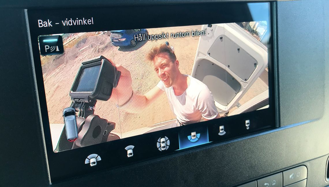 Checking out the rear camera